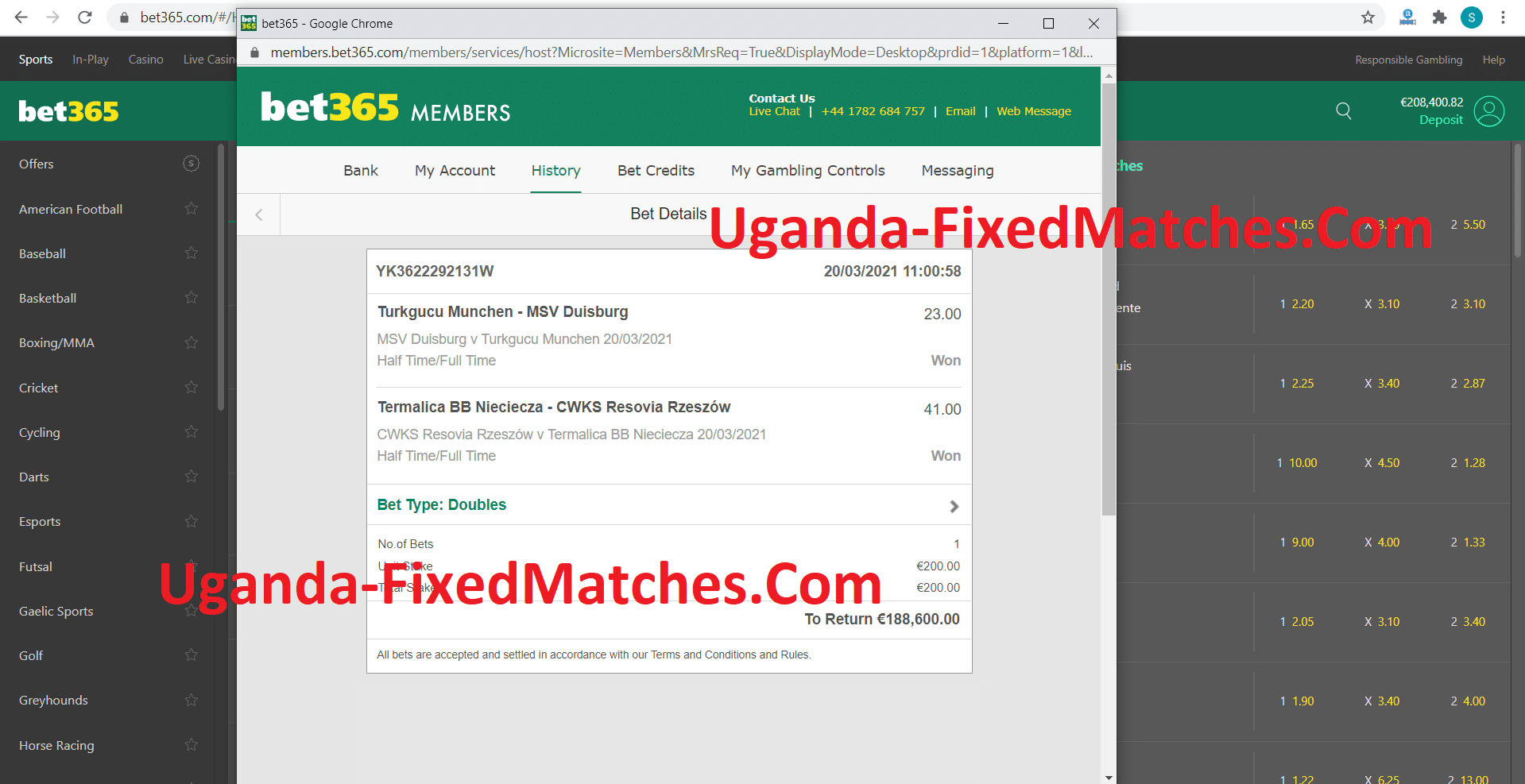 Double Fixed Matches Proofs