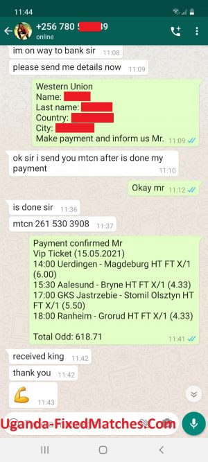 Uganda Ticket Fixed Matches