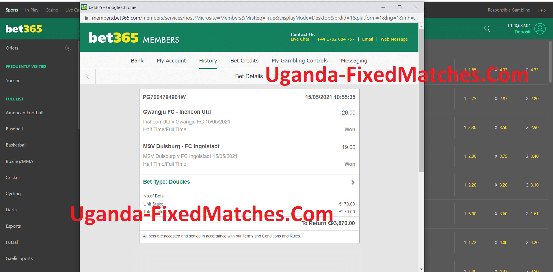 Uganda Double Fixed Matches