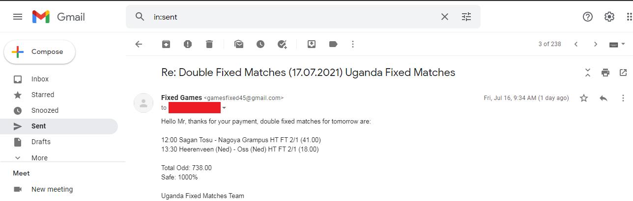 Fixed Football Matches 1x2