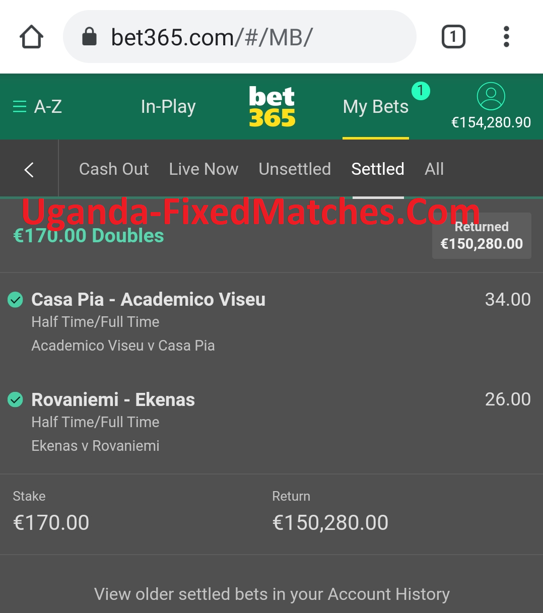 draw real fixed matches