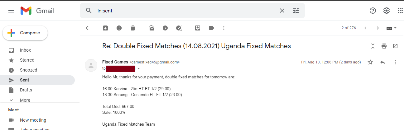 best offer fixed matches