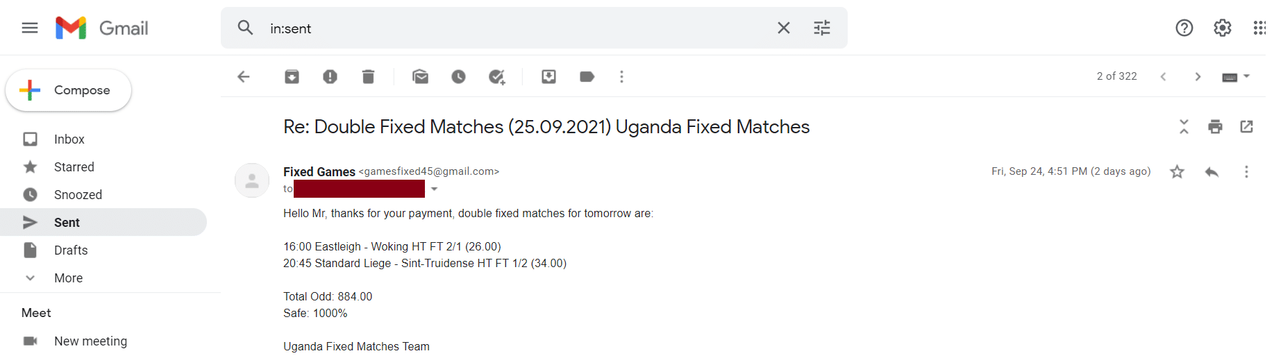 100% Sure fixed Matches Football Odds