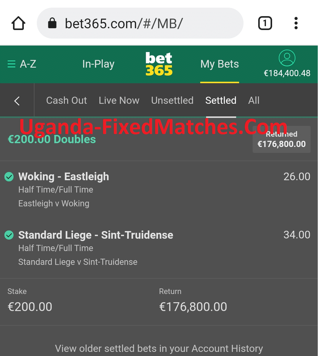 Real Fixed Matches today