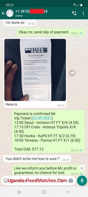 Uganda Ticket Fixed Matches