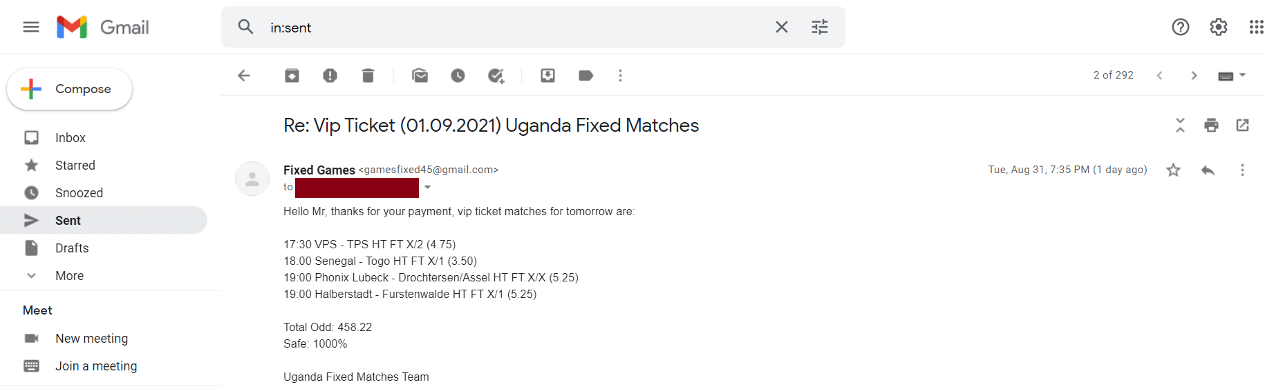 Weekend odds Fixed Matches