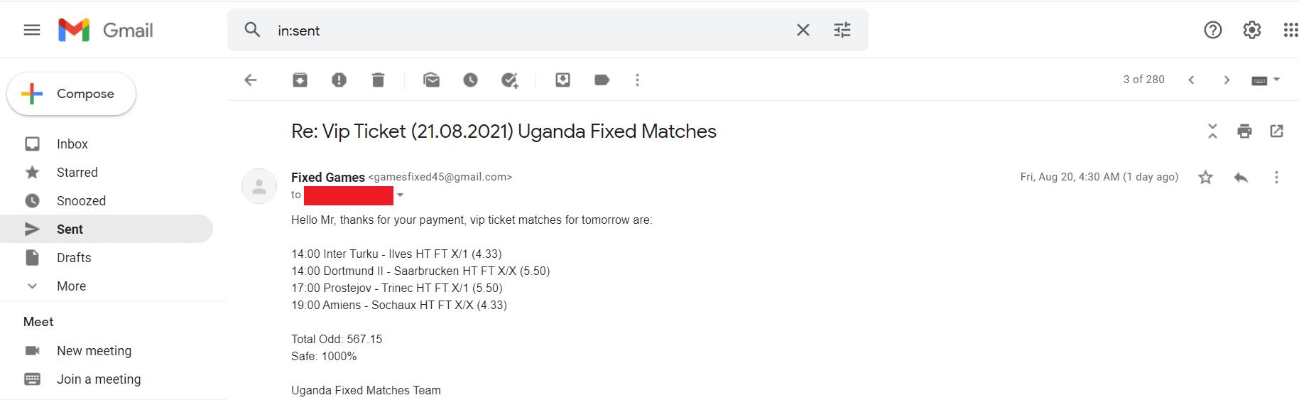Fixed Picks Fixed Matches